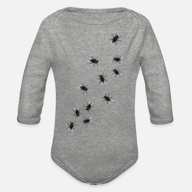 Flies Flies - Organic Long-Sleeved Baby Bodysuit