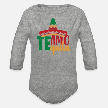 Chicano Te Amo Quila - Organic Long-Sleeved Baby Bodysuit