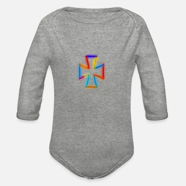 Cross cross - Organic Long-Sleeved Baby Bodysuit