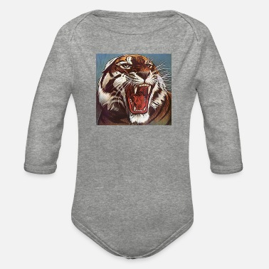 Junglecontest JUNGLECONTEST TIGER - Organic Long-Sleeved Baby Bodysuit