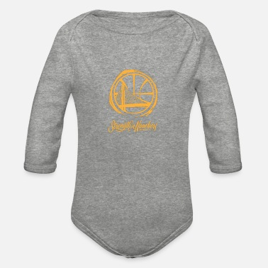 Golden State Warriors strength in numbers warriors - Organic Long-Sleeved Baby Bodysuit