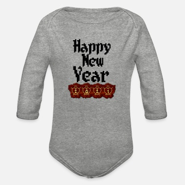 New Year New year happy new year - Organic Long-Sleeved Baby Bodysuit