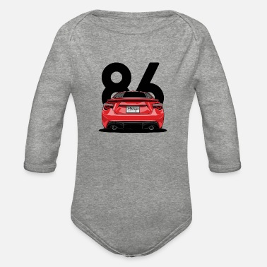 Automobile automobile - Organic Long-Sleeved Baby Bodysuit