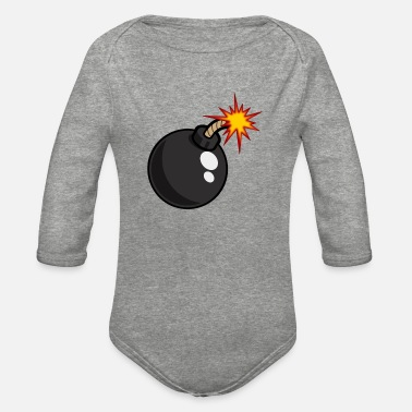 Bomb Bomb - Organic Long-Sleeved Baby Bodysuit