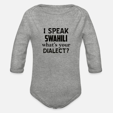 Dialect swahili dialect - Organic Long-Sleeved Baby Bodysuit