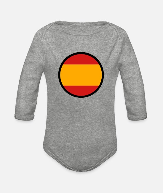 Don Quijote Baby One Pieces - Marked By Spain - Organic Long-Sleeved Baby Bodysuit heather gray