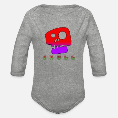Funky skull - Organic Long-Sleeved Baby Bodysuit