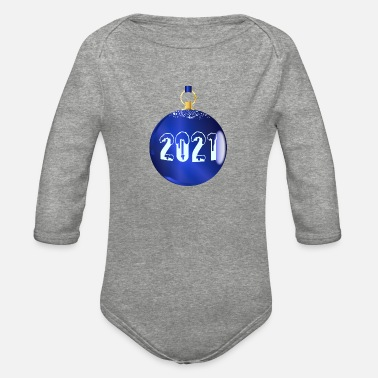Bauble 2021 Christmas Decoration Baible - Organic Long-Sleeved Baby Bodysuit