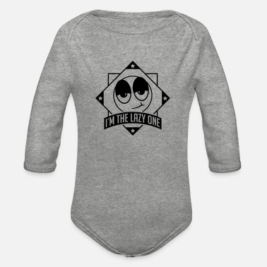 im_the_lazy_one_pu1 - Organic Long-Sleeved Baby Bodysuit