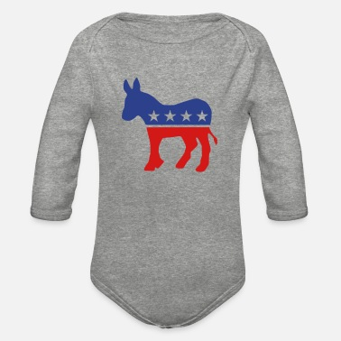 Democratic Party Democrats - Organic Long-Sleeved Baby Bodysuit