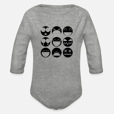 Emotion emotions - Organic Long-Sleeved Baby Bodysuit