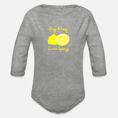 Lemon lemon tshirt lemon print dress lemon print lemons - Organic Long-Sleeved Baby Bodysuit