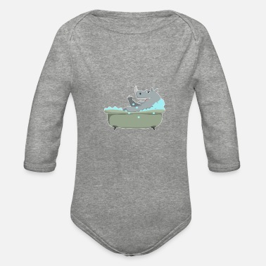 Mr. Clean The clean and fresh rhino - Organic Long-Sleeved Baby Bodysuit