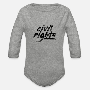 Civil Rights Civil Rights - Organic Long-Sleeved Baby Bodysuit