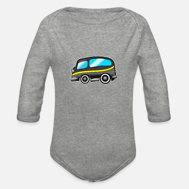 Transport Oldschool Transporter - Organic Long-Sleeved Baby Bodysuit