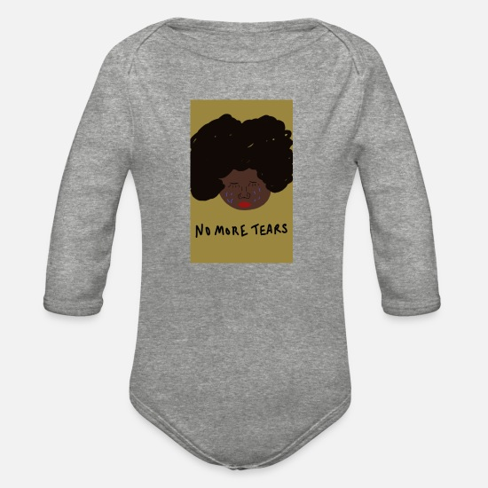 Tear  Baby Clothing - No More Tears - Organic Long-Sleeved Baby Bodysuit heather gray