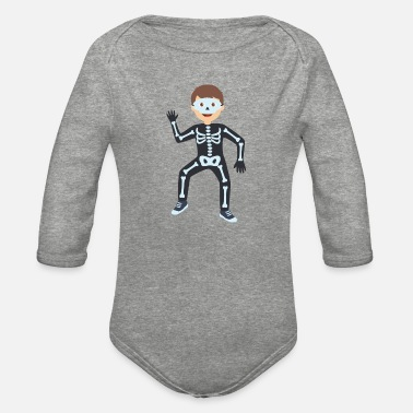 Costume-garb skeleton costume - Organic Long-Sleeved Baby Bodysuit