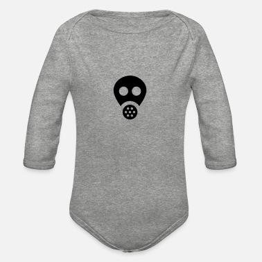 Shield Gas Mask - Organic Long-Sleeved Baby Bodysuit