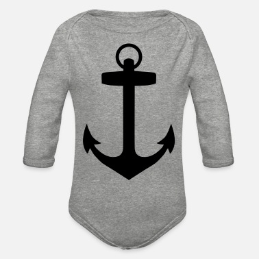 Anchors Anchor - Organic Long-Sleeved Baby Bodysuit