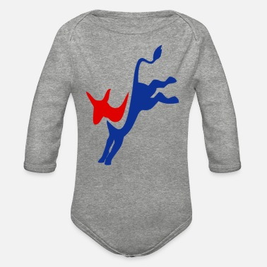 Democrat Democrat - Organic Long-Sleeved Baby Bodysuit