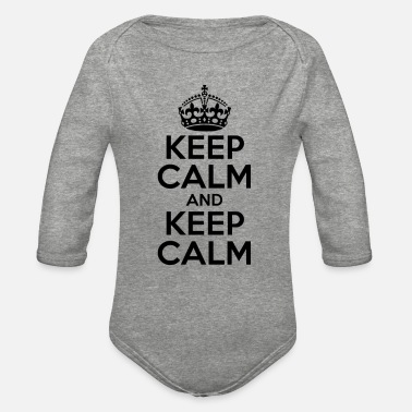 Keep Calm KEEP CALM AND KEEP CALM - Organic Long-Sleeved Baby Bodysuit