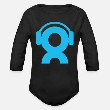 Nonprofit Discover Music Logo - Organic Long-Sleeved Baby Bodysuit