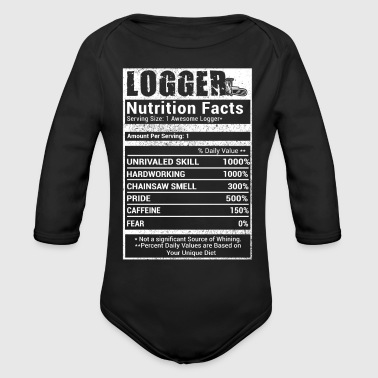 Logger nutrition T-Shirts - Organic Long Sleeve Baby Bodysuit