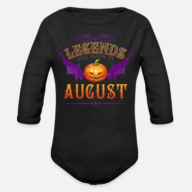 Are Born In August Legends Are Born In August - Organic Long-Sleeved Baby Bodysuit