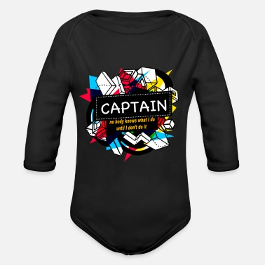 Captain CAPTAIN - Organic Long-Sleeved Baby Bodysuit