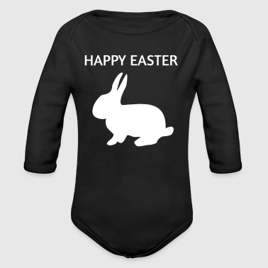 Easter Bunny Happy Easter Easter Bunny - Organic Long Sleeve Baby Bodysuit