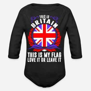 Britain This Is Britain - Organic Long-Sleeved Baby Bodysuit