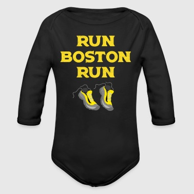 Running Run Boston Run Running Marathon - Organic Long Sleeve Baby Bodysuit
