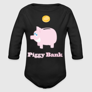 Piggy Bank - Organic Long Sleeve Baby Bodysuit