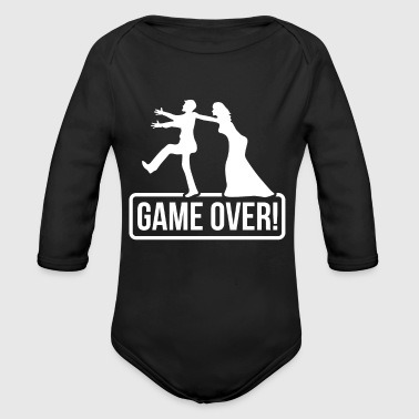 Game Over Game Over - Organic Long Sleeve Baby Bodysuit