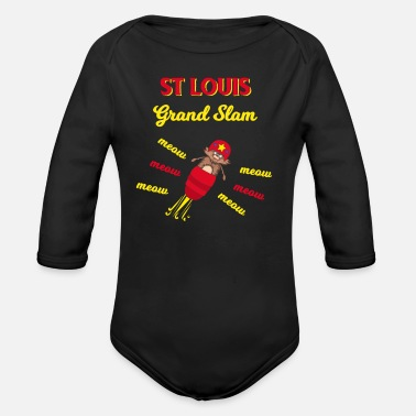 Grand Slam Baseball St Louis Grand Slam Rally Cat Team Fans - Organic Long Sleeve Baby Bodysuit
