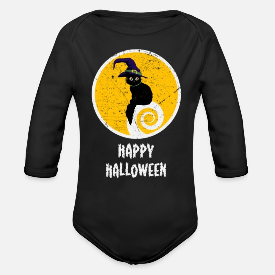 Treat Baby Clothing - Happy Halloween Costume Ideas - Organic Long-Sleeved Baby Bodysuit black