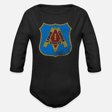 State Motto Labor Omnia Vincit Oklahoma State Motto - Organic Long Sleeve Baby Bodysuit