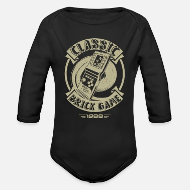 Classic Game Classic Brick Game - Organic Long-Sleeved Baby Bodysuit