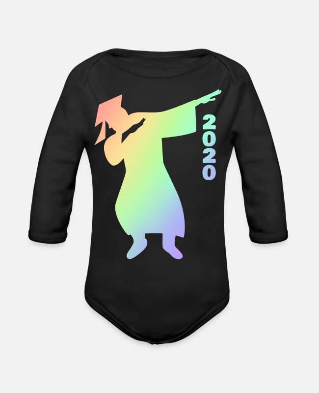 Proud Sister 2020 Grad Baby One Pieces - Dabbing Graduate 2020 Graduation LGBTQ Gift Men - Organic Long-Sleeved Baby Bodysuit black