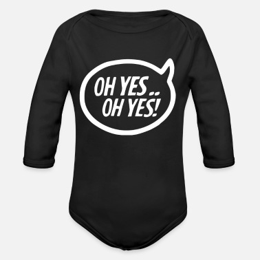 Oh Carl Cox OH YES - Organic Long-Sleeved Baby Bodysuit