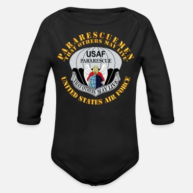Pararescueman - That others may live - Organic Long-Sleeved Baby Bodysuit