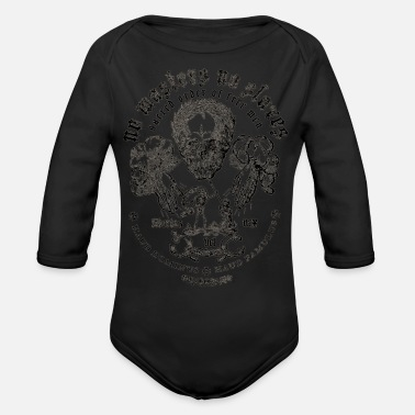 Slave No Masters No Slaves - Organic Long-Sleeved Baby Bodysuit