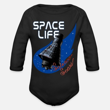 Solar System Space Life Capsule - Organic Long Sleeve Baby Bodysuit