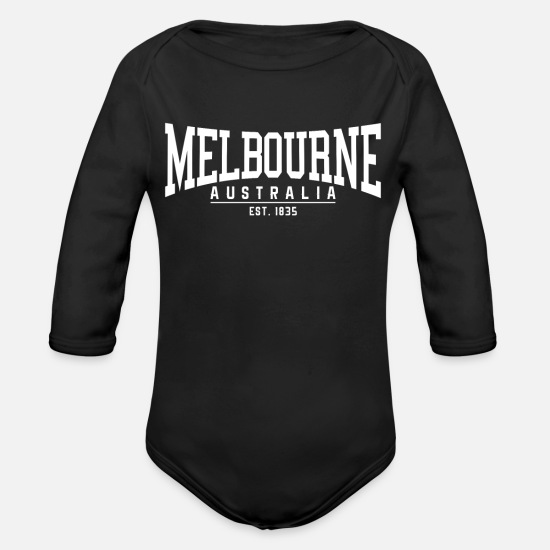 Melbourne Baby Clothing - MELBOURNE SHIRT - Organic Long-Sleeved Baby Bodysuit black