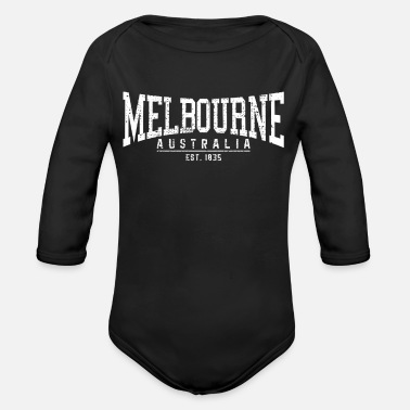 Melbourne MELBOURNE - Organic Long-Sleeved Baby Bodysuit