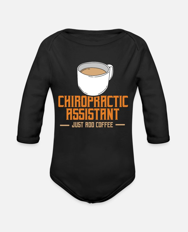 Medicine Baby One Pieces - Chiropractic Assistant - Organic Long-Sleeved Baby Bodysuit black