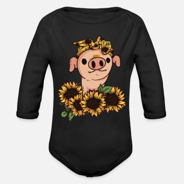 Life Is Better With A Pig Farm Farmer Girls Gift for pig lover nice pig - Organic Long-Sleeved Baby Bodysuit