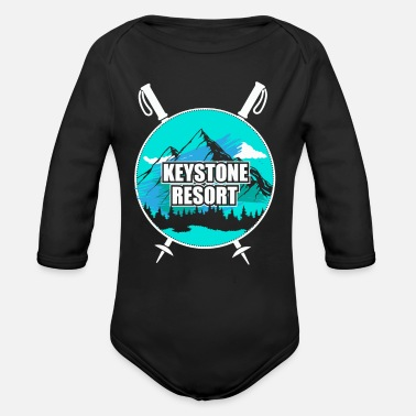 Ski Resort Keystone Resort Ski Resort Snow Wintersport - Organic Long-Sleeved Baby Bodysuit
