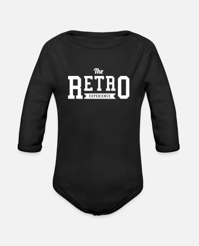 Experience Baby One Pieces - The retro experience - Organic Long-Sleeved Baby Bodysuit black