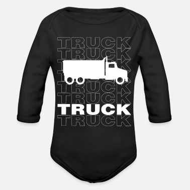 Un Camion Cool Truck Urban Design Streetwear - Organic Long-Sleeved Baby Bodysuit
